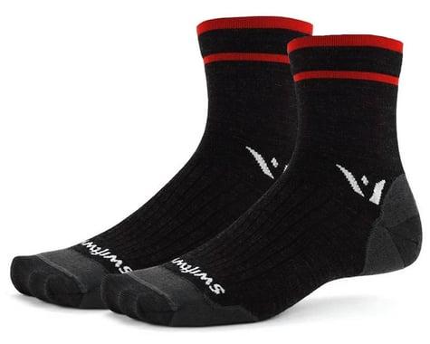 Swiftwick Pursuit Four Ultralight Socks (Coal Red) (S)