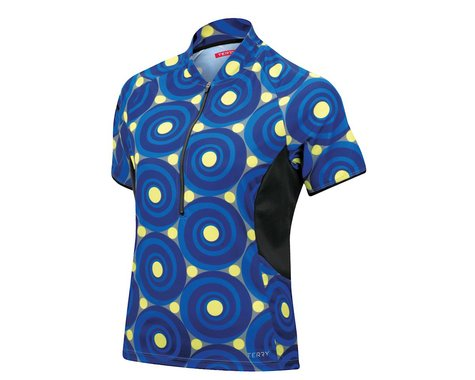 Terry Women's Touring Plus Size Short Sleeve Jersey (Blue) (Xlarge)