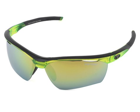 Tifosi Vero Sunglasses (Crystal Neon Green) (Clarion Yellow, AC Red & Clear)