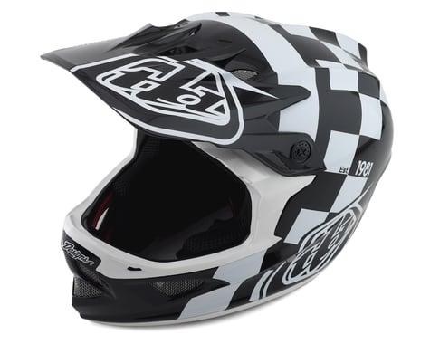 Troy Lee Designs D3 Fiberlite Full Face Helmet (Raceshop White)