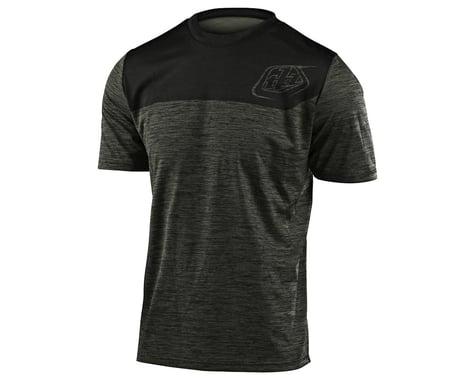 Troy Lee Designs Flowline Short Sleeve Jersey (Heather Green/Black) (S)