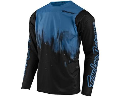 Troy Lee Designs Skyline Long Sleeve Jersey (Diffuze Bluebird/Black) (S)