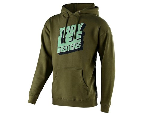 Troy Lee Designs Block Party Pullover Hoodie (Army Green) (2XL)