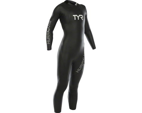 Tyr Women's Hurricane Cat 1 Sleeveless Wetsuit: Black/White MD/LG