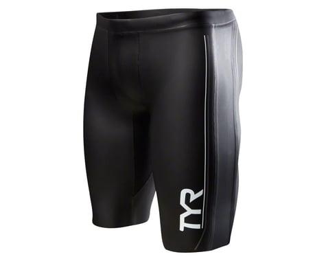 Tyr Hurricane Cat 1 NEO Men's Neoprene Training and Racing Shorts: Black/Gray SM
