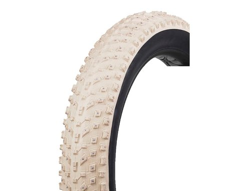 """Vee Tire Co. Snow Avalanche Studded Tubeless Ready Fat Bike Tire (Cream) (26"""") (4.8"""")"""