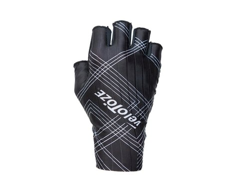 VeloToze Aero Cycling Gloves, Black/White (S)