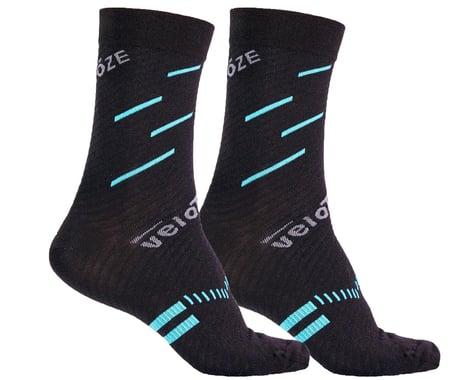 VeloToze Active Compression Wool Socks (Black/Blue) (S/M)