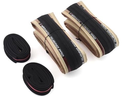 Vittoria Rubino Pro Road Tire Twin Pack (Tan Wall) (w/ Presta Tubes) (700c) (28mm)