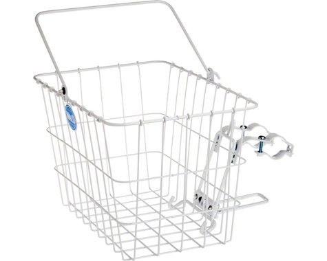 Wald 3114 Front Quick Release Basket w/ Bolt-On Mount (White)