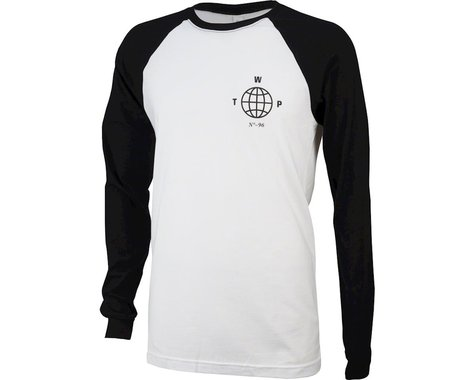 We The People Globe Long Sleeve Baseball T-Shirt: Black/White XL