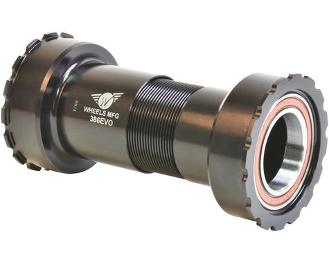Wheels Manufacturing 24mm Bottom Bracket (Black) (BB386 EVO)