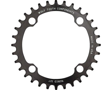 Wolf Tooth Components Drop-Stop Chainring (102BCD) (Offset N/A) (32T)