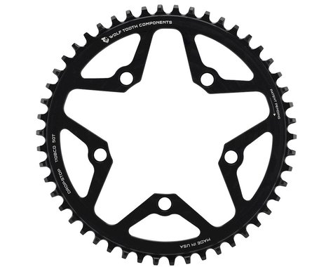 Wolf Tooth Components Drop-Stop Chainring (Black) (110mm BCD) (Offset N/A) (50T)