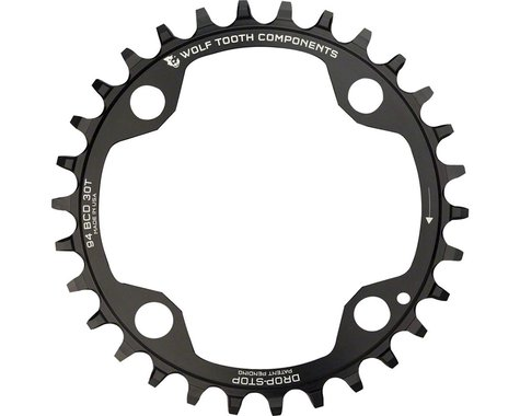 Wolf Tooth Components 4-Bolt Drop-Stop Chainring (Black) (94mm BCD) (Offset N/A) (32T)