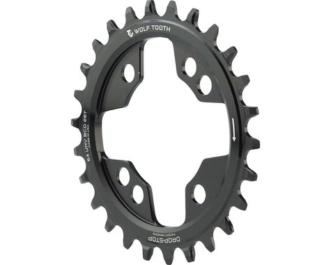 Wolf Tooth Components PowerTrac Drop-Stop Chainring (Black) (64mm BCD) (Offset N/A) (26T)