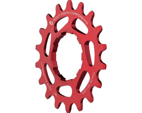 Wolf Tooth Components Single Speed Aluminum Cog (Red) (18T)