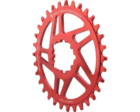 Wolf Tooth Components Direct Mount Drop-Stop Chainring (Red) (6mm Offset) (34T)