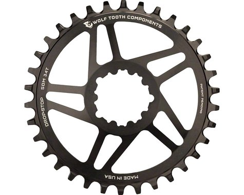 Wolf Tooth Components Direct Mount GXP Drop-Stop Chainring (Black) (6mm Offset) (26T)