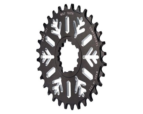 Wolf Tooth Components Snowflake Direct Mount BB30 Chainring (Black) (0mm Offset) (28T)