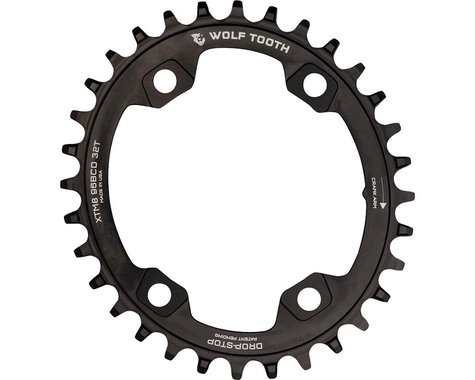Wolf Tooth Components PowerTrac Drop-Stop Chainring (Black) (96mm Asym BCD) (Offset N/A) (30T)