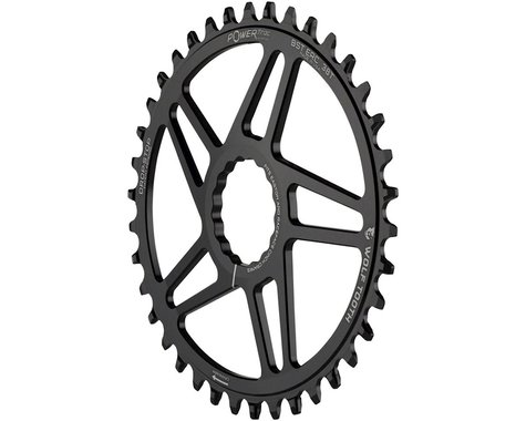 Wolf Tooth Components PowerTrac Drop-Stop Easton Direct Mount Chainring (Black) (Cinch)