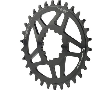Wolf Tooth Components PowerTrac Drop-Stop GXP Oval Chainring (Black) (3mm Offset (Boost)) (30T)