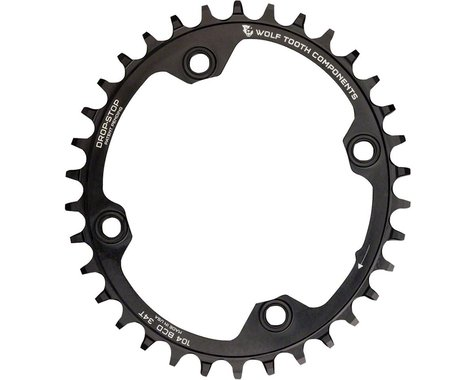 Wolf Tooth Components PowerTrac Elliptical Drop-Stop Chainring (Black) (104mm BCD) (Offset N/A) (32T)
