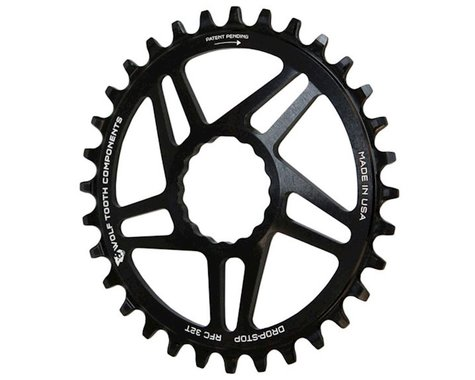 Wolf Tooth Components Drop-Stop Race Face Cinch Chainring (Black) (6mm Offset) (28T)