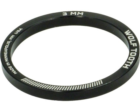 """Wolf Tooth Components 1-1/8"""" Headset Spacers (Black) (5) (3mm)"""