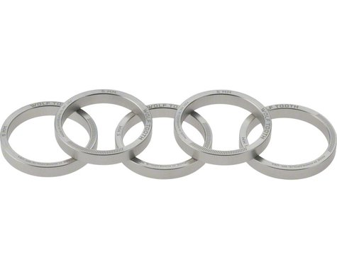 """Wolf Tooth Components 1-1/8"""" Headset Spacer (Silver) (5) (5mm)"""