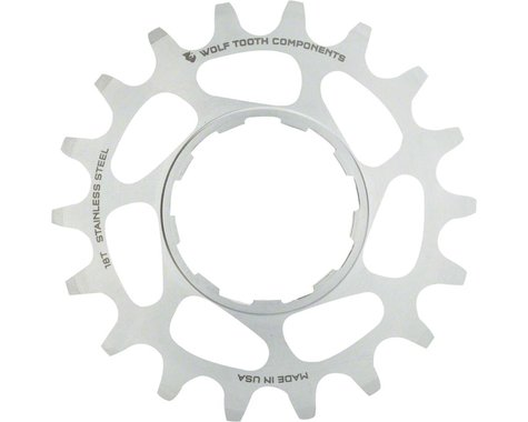 Wolf Tooth Components Single Speed Stainless Steel Cog (Silver) (17T)