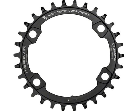 Wolf Tooth Components Drop-Stop Shimano XT 8000 series Chainring (Black) (Offset N/A) (34T)