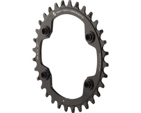 Wolf Tooth Components Drop-Stop Shimano XTR 9000 series Chainring (Black) (Offset N/A) (30T)