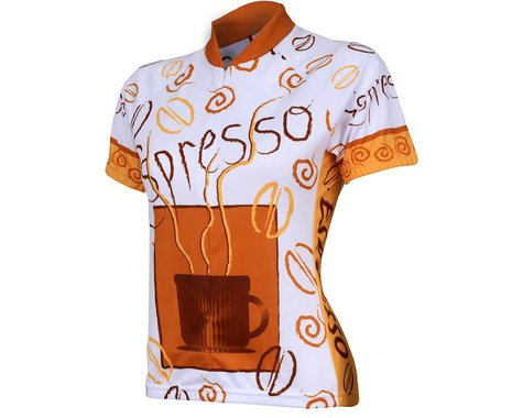 World Jerseys Women's Espresso Short Sleeve Jersey (Brown)