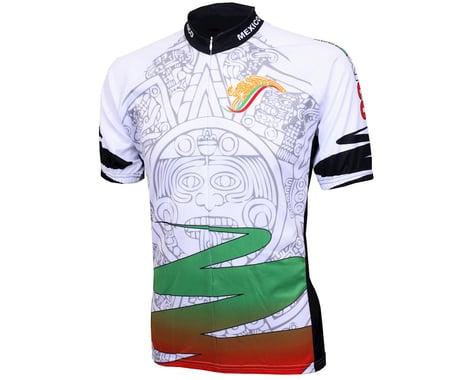 World Jerseys Mexico Aztec Short Sleeve Jersey (White)