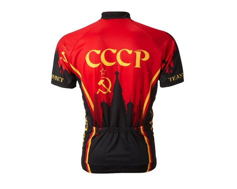 World Jerseys Team Soviet Union Short Sleeve Jersey (Black/Red)
