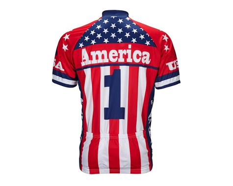 World Jerseys America One Short Sleeve Jersey (Red/White/Blue)