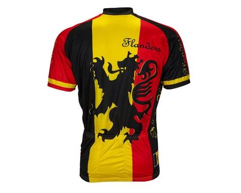 World Jerseys Lion Of Flanders Short Sleeve Jersey (Black/Red)
