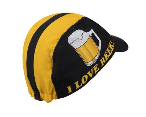 World Jerseys I Love Beer Cycling Cap (Black/Yellow)