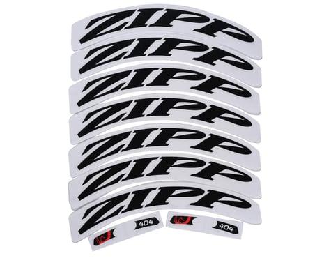 Zipp Decal Set (404 Matte Black Logo) (Complete for One Wheel)