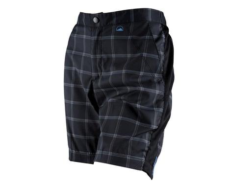 ZOIC Women's Posh Plaid Shorts (Black)