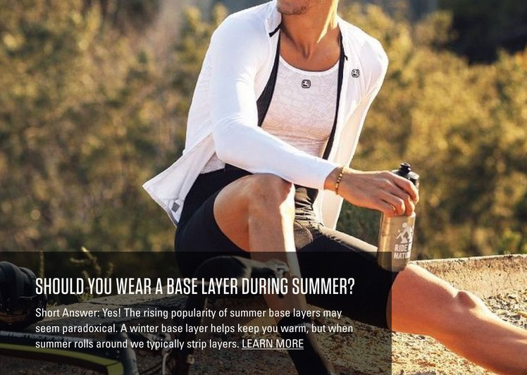 Base layers in Summer